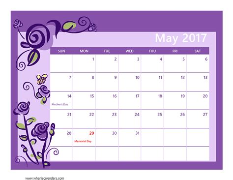 calender outline may 2017 calendar pdf weekly calendar template
