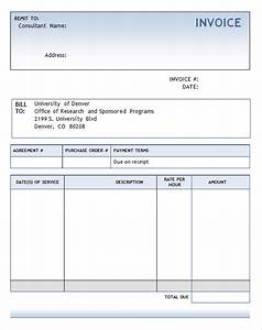 Sample consulting invoice 7 documents in word pdf for Free invoice template consultant billing template