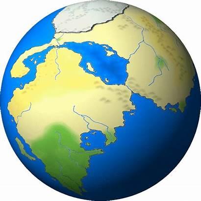 Globe Animated Earth Clipart Cliparts Cartoon Animation