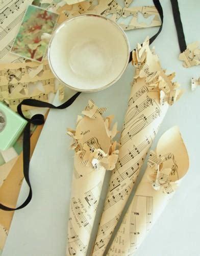 diy paper wedding cones  wed