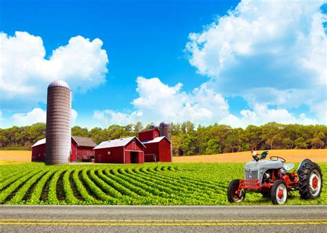 country farm landscape stock photo image  dramatic