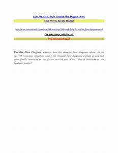 Eco 204 Week 1 Dq 1 Circular Flow Diagram  New  By T