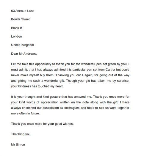 thank you letter for gift thank you letter for gift 9 free word excel pdf 20160