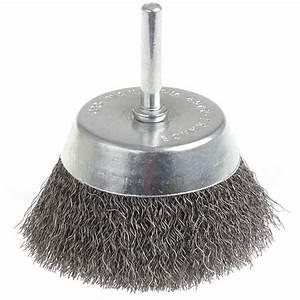 Brosse Métallique Pour Perceuse : brosse m tallique conique pour perceuse visseuse 50 mm ~ Dailycaller-alerts.com Idées de Décoration
