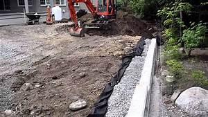 Comment Faire Un Drainage : syst me de drainage d 39 un mur de sout nement youtube ~ Farleysfitness.com Idées de Décoration