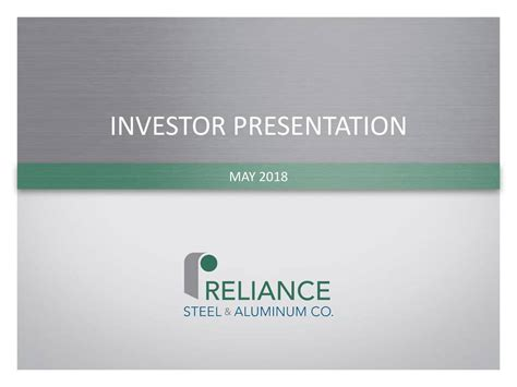 Reliance Steel & Aluminum (RS) Presents At KeyBanc Capital ...