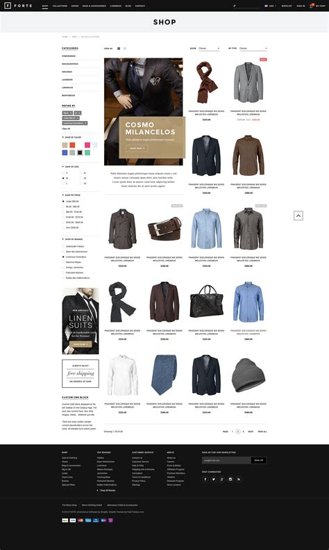 shopify website templates forte responsive shopify template halothemes