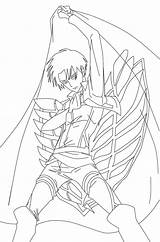 Titan Attack Levi Coloring Pages Ackerman Template Printable Getdrawings Getcolorings Sketch sketch template