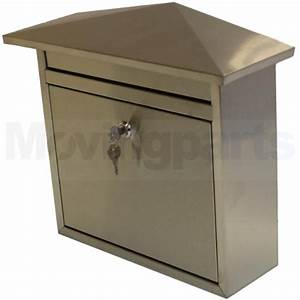 dented lockable stainless steel post box letter large With big letter box