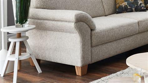 sofa borkum 3 sitzer in stoff natur mit federkern 186 cm landhausstil