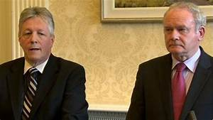 Peter Robinson and Martin McGuinness in David Cameron ...