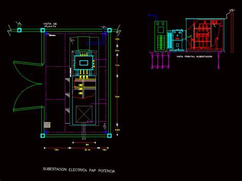 electrical substation  autocad cad   kb