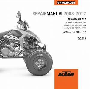Aomc Mx  Ktm Cd Repair Manual 450  525 Xc Atv 08