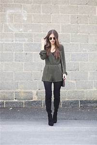 Lana jayne blogger romper shorts tights sunglasses jewels knee high boots shoulder bag ...