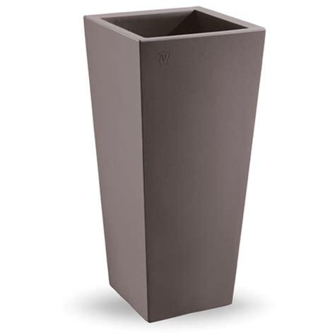 vasi da esterno in plastica cachepot genesis quadrato alto 85cm vasi plastica