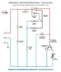 wiring diagram kulkas klinik elektronik cikarang