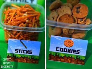 Free Printable Minecraft Birthday Food Labels Foodfash co