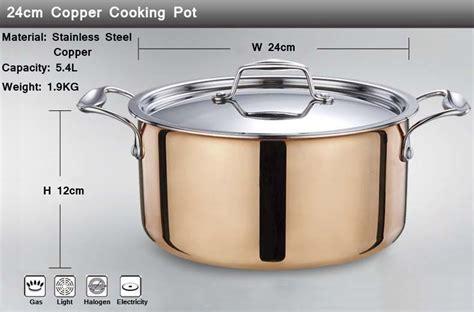 high grade copper cooking pots  frying pan stainless pot hot pot  pans cookware set pans
