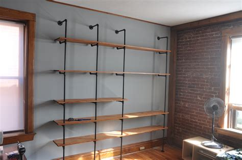 Reclaimed Wood & Pipe Shelving Unit