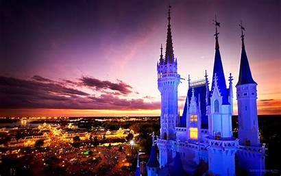 Disney Castle Night Cinderella Wallpapers Christmas Disneyland