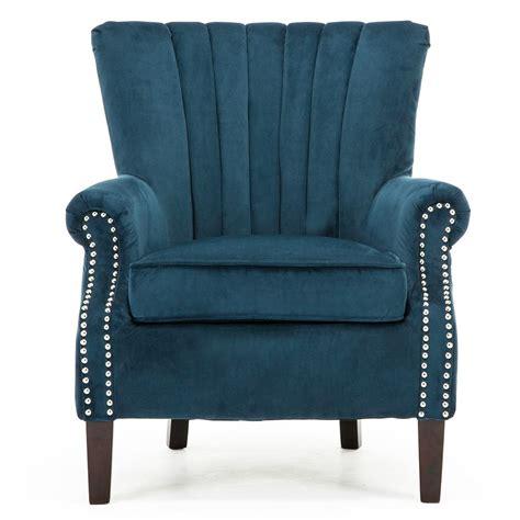 Bedroom Armchair by Olenka Velvet Wing Back Occasional Accent Bedroom Armchair