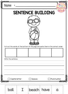 august sentence building  images writing skills