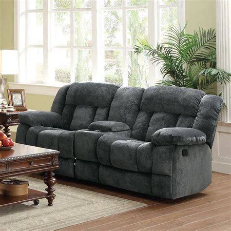 gray reclining loveseat shop modern gray microfiber glider reclining