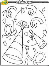 Coloring Confetti Crayola Printable Colouring Sheets Eve Adult Clock Tangled Colorings Mothers Getcolorings sketch template