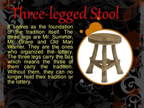 lottery stool legged three formalist criticism box