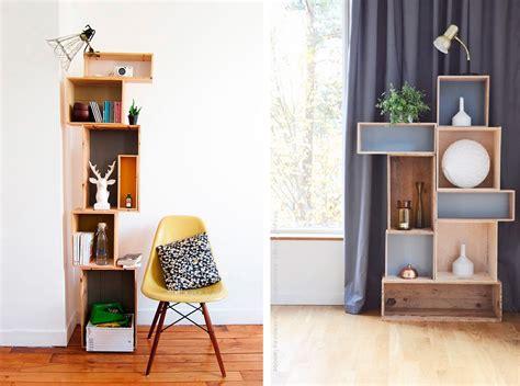 libreria con cassette di legno come riutilizzare le casse di 26 idee di riciclo