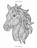 Coloring Kolorowanki Konie Horse Mandala Mandalas Relaxation Druku Patterns Adult Colorear Stress Animales Relief Zum Sheets Pferde Ausmalbilder Ausmalen Pattern sketch template