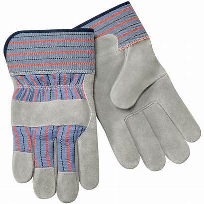 Leather Palm Gloves Glove Split Short Cowhide