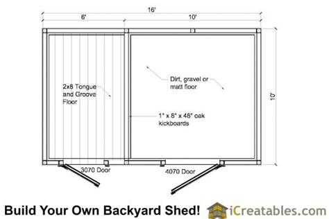 10x16 shed floor plans 17 best ideas about shelter on