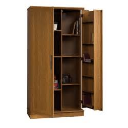 sauder 411965 home plus storage cabinet swing out door brown sears outlet