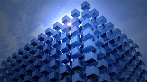 wallpaper cubes blue abstract wallpaper iphone android mobile desktop