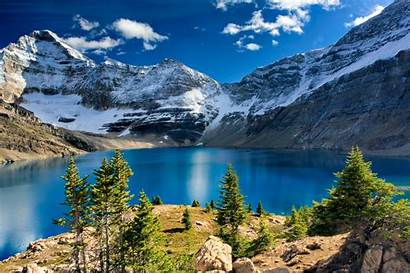 Scenery Mountain Lake 4k Wallpapers Canada Mountains