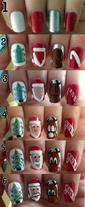 Best easy simple christmas nail art tutorials for
