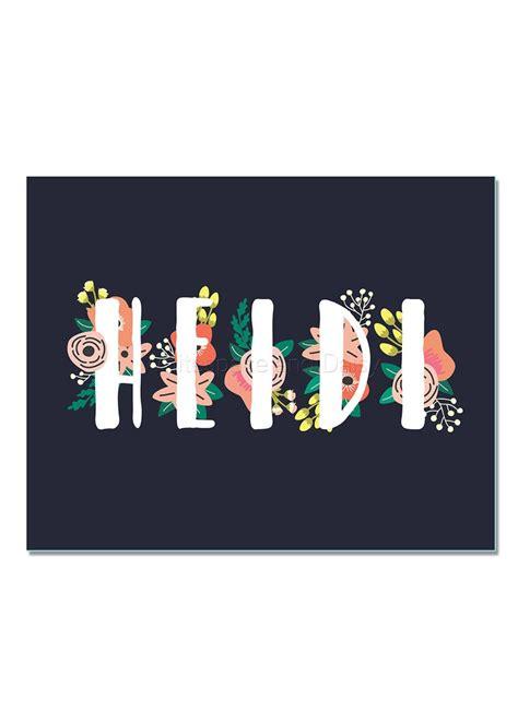 heidi personalized  sign custom  art printable