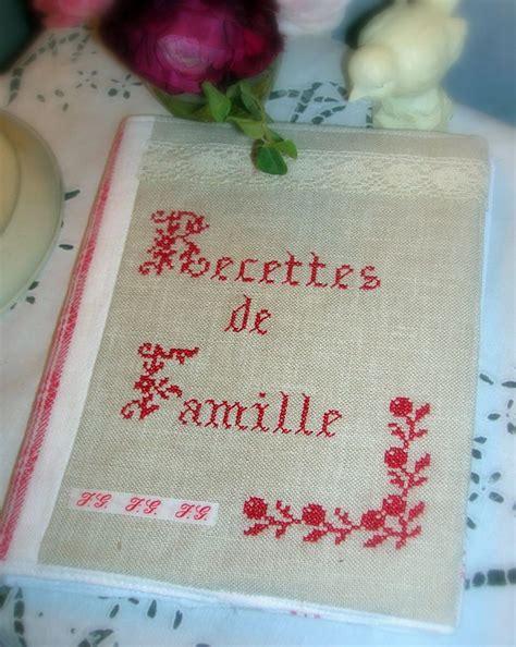 cahier de recette de cuisine protege cahier de recettes cuisine vendu photo de broderie dorémificelle