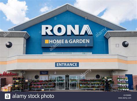 rona home  garden sign   store entrance