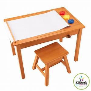 Schreibtisch Hocker Kinder : kidkraft kinder zeichentisch mit hocker schreibtisch ebay ~ Lizthompson.info Haus und Dekorationen
