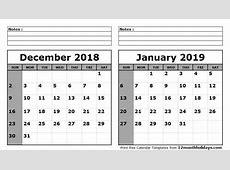 December 2019 January 2019 Calendar Site About Template