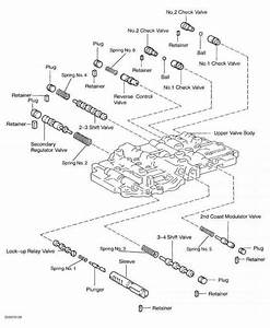 Fig  52  Exploded View Of A340 Series Upper Valve Body  Sequoia  Courtesy Of Toyota Motor Sales