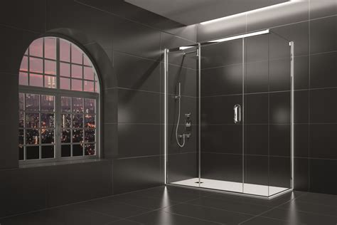 Arysto 3 Panel Sliding Door With Side Panel • Merlyn Showering