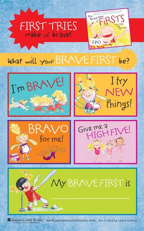 my brave year of firsts story activities printable
