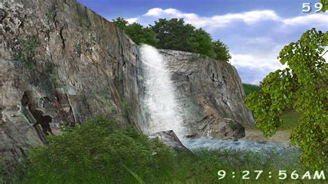 Living Waterfalls Animated Wallpaper - 3d living waterfall screensaver softpedia