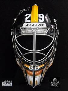 Marc-Andre Fleury's Steelers-Themed Goalie Mask is the ...
