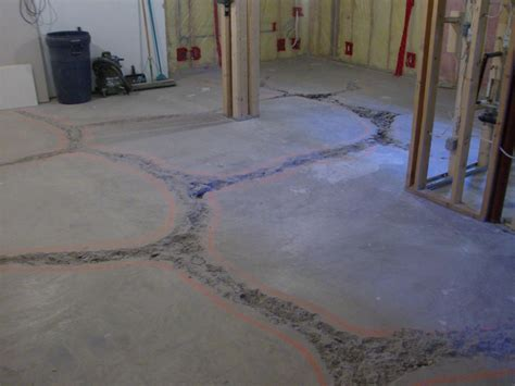 basement floor fill level concrete paving
