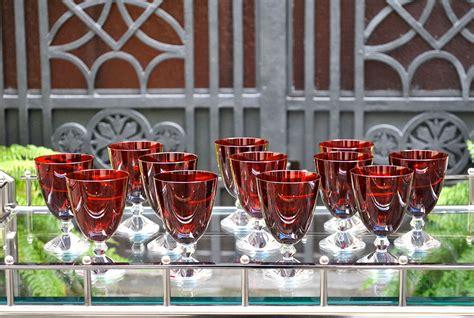 bicchieri baccarat catalogo baccarat quot quot rubino set 12 calici di cristallo chiaro