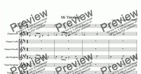 mi yimalel fantasy for band download sheet music pdf file